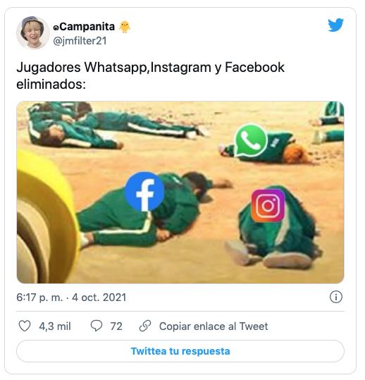 memes caida whatsapp, facebook e instagram